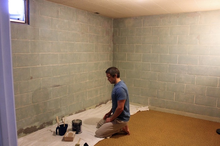 The Paint That We Decided On Using Was Behr Basement U0026 Masonry Waterproofer.