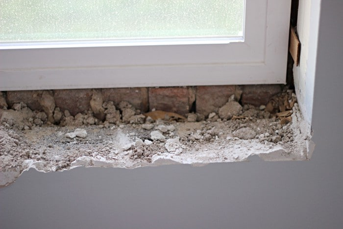 Removing Tile from the Window Sill - TwoFeetFirst