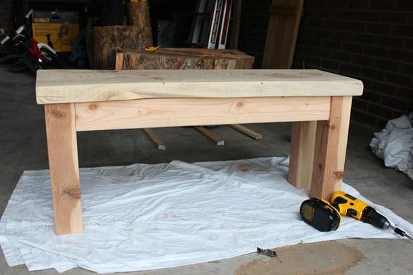 DIY kitchen bench
