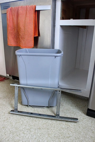 DIY trash can pull out