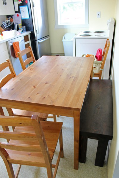 Ikea hack farmhouse table for Ikea farmhouse table hack