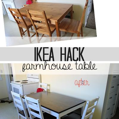 Ikea Hack: Farmhouse Table