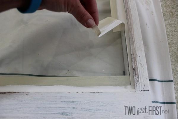 installing glass to cabinet door