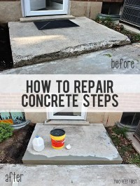 Fixing Chipped Concrete Steps