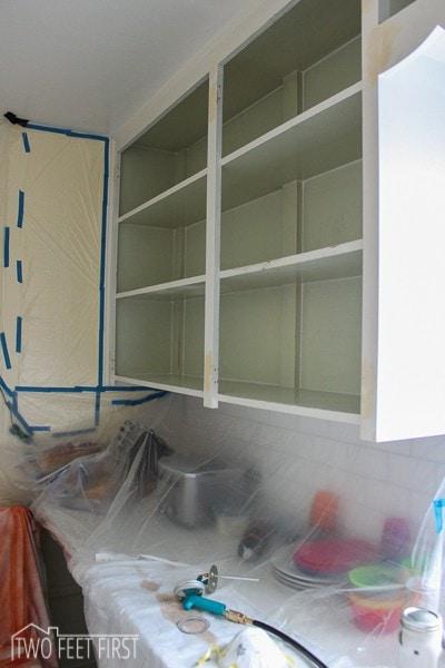 DIY paint kitchen cabinet