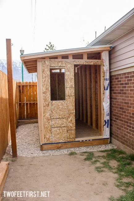 Build a lean to roof for a shed twofeetfirst for Build your own cupola