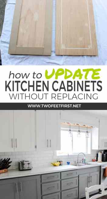 Update kitchen cabinets without replacing them by adding trim for How to update cabinets