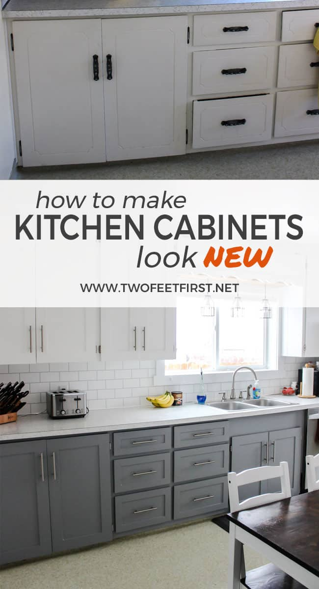 are you wondering how to update your kitchen cabinets on a budget