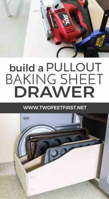 build a pullout drawer for kitchen cabinets