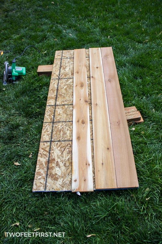 Building a simple cedar door for a shed & Build a Simple Cedar Door for a Shed - TwoFeetFirst Pezcame.Com