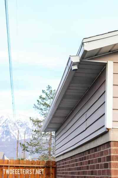 How to add a gutter to a garage.