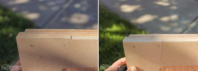 Adding-trim-to-cabinet-door