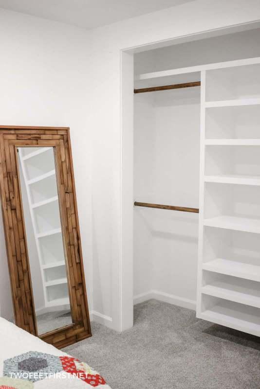 handmade closet organizer