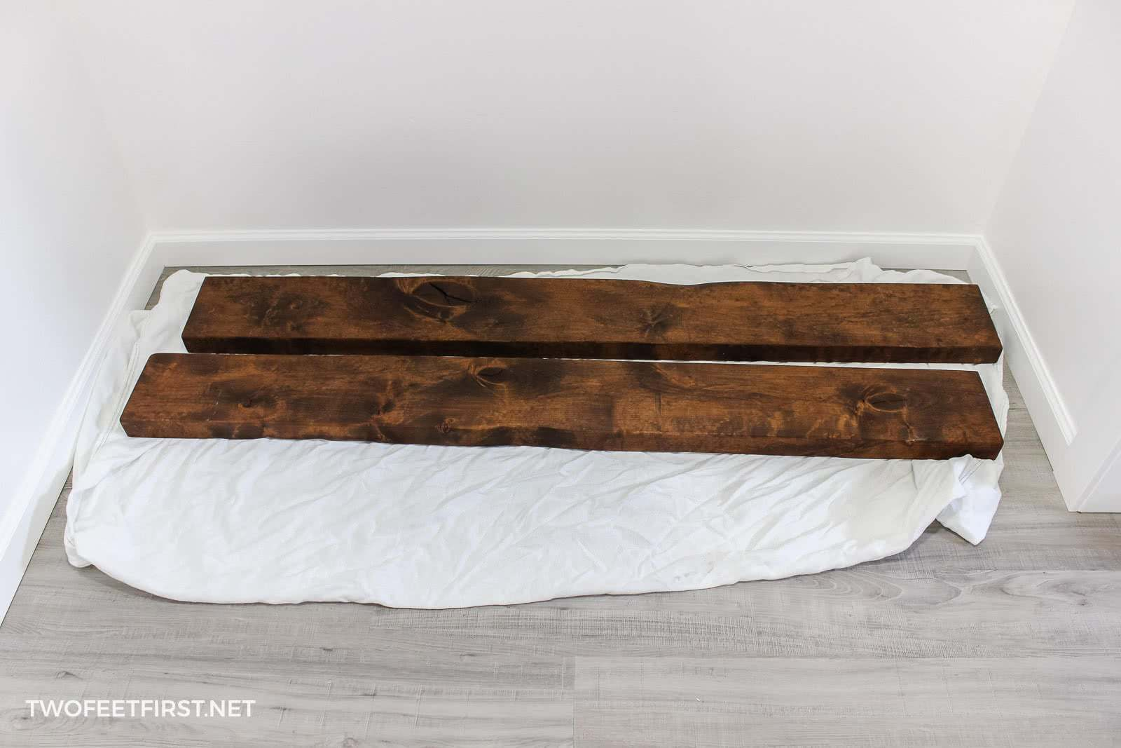 wood for floating bench