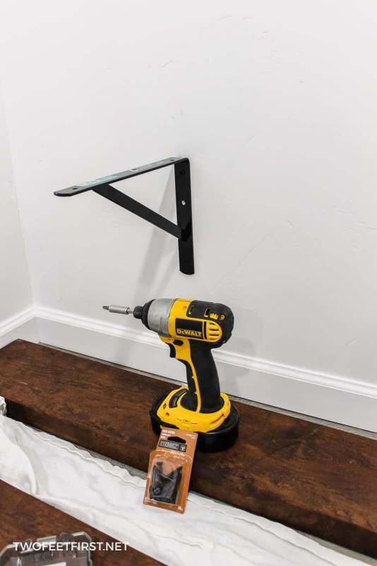 attach shelf bracket onto wall