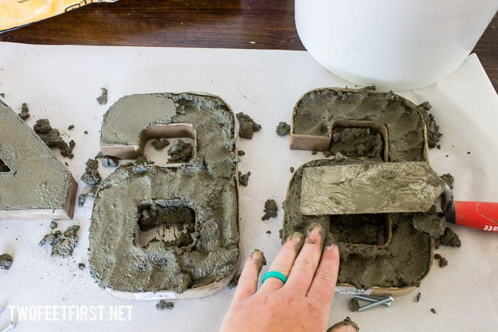how to create concrete shapes