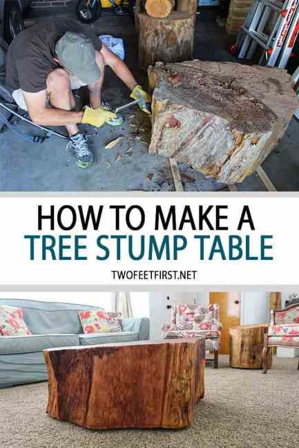 How to make a tree stump table.