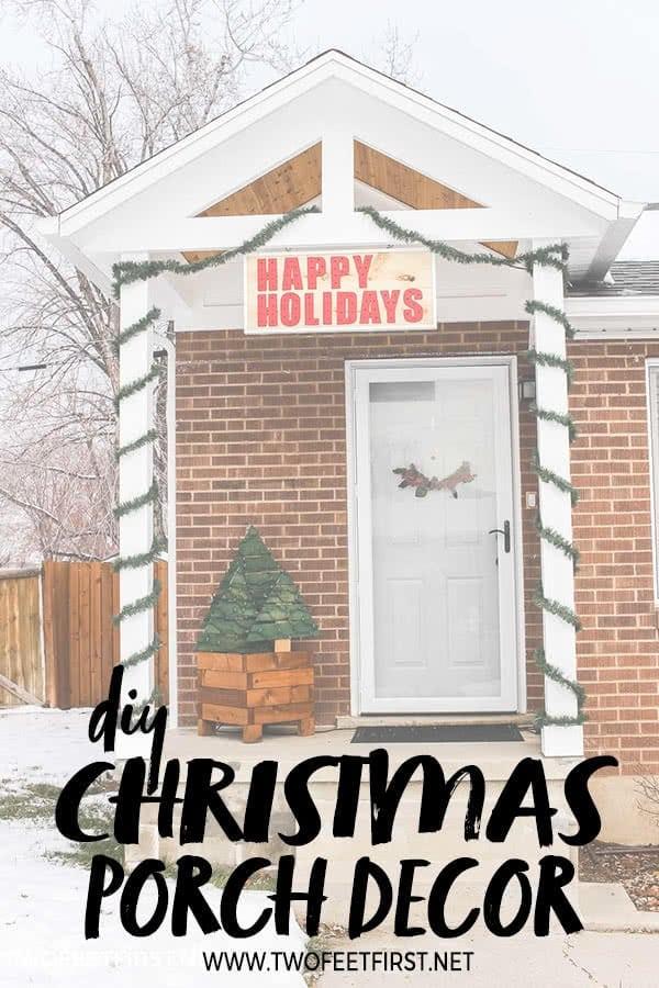 DIY Christmas Porch decor