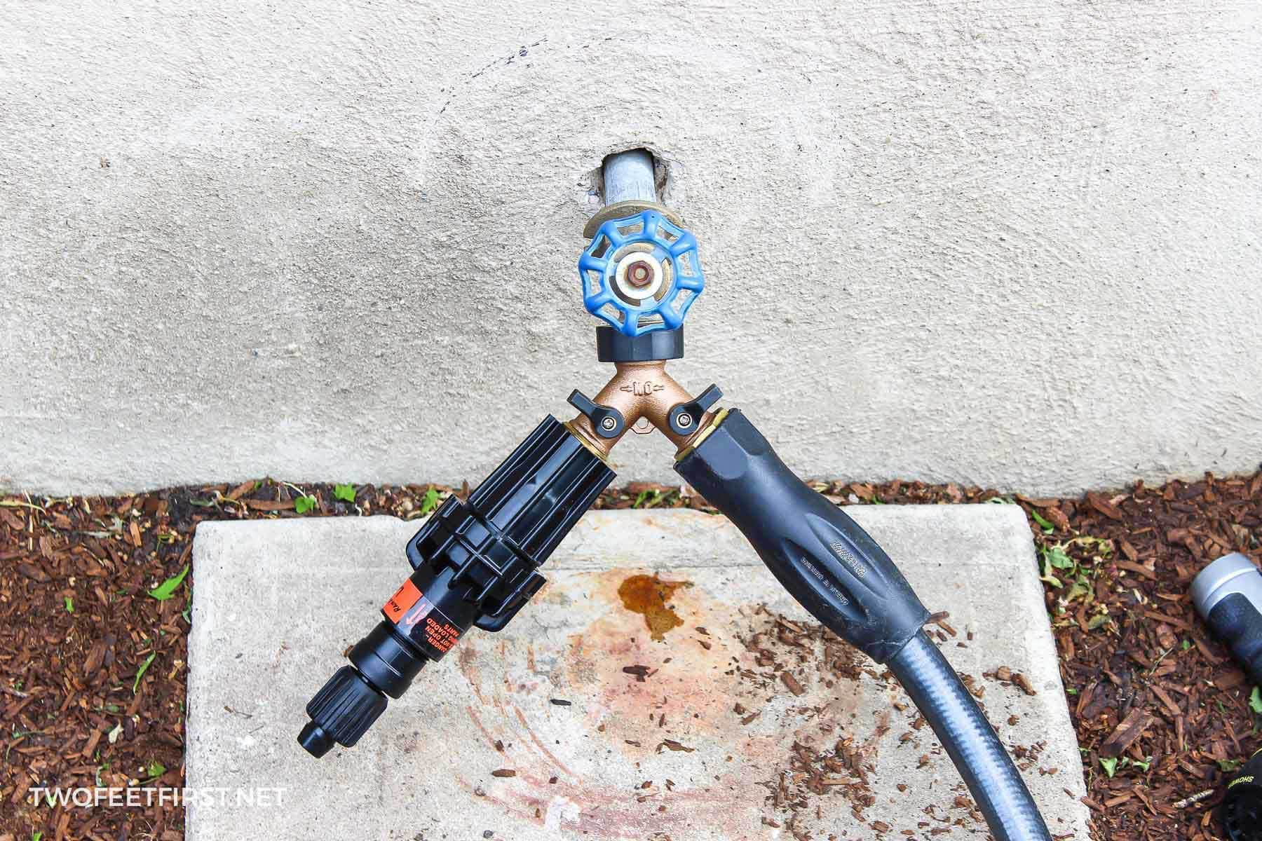 attach drip system to faucet
