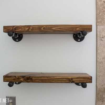 Build a floating industrial shelf