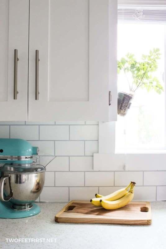 Easy Backsplash Kitchen | How To Paint A Backsplash To Look Like Tile