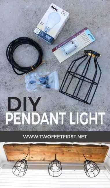Diy pendant light pendant cage light above sink aloadofball Gallery