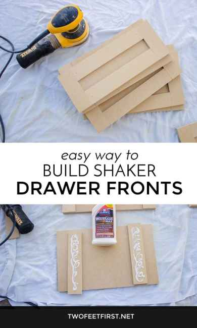 build shaker drawer fronts