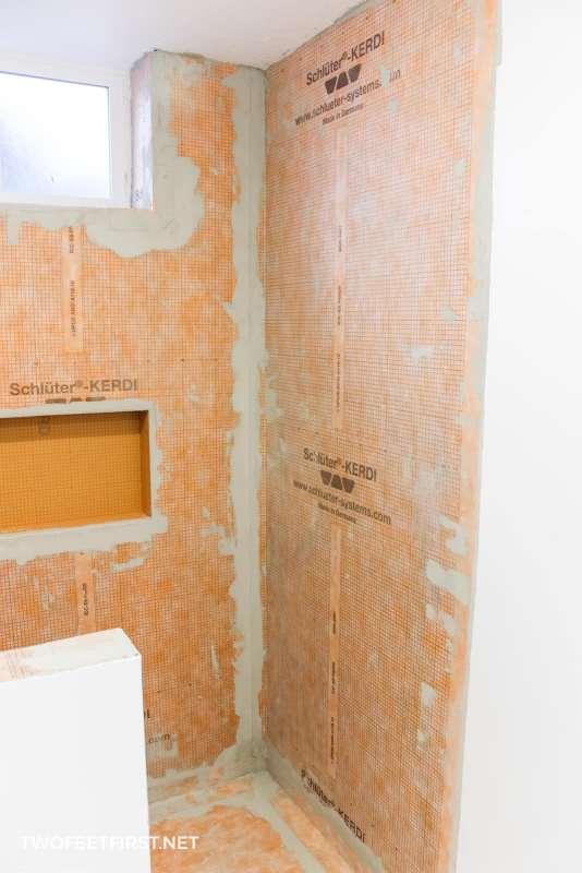 prep shower for tile