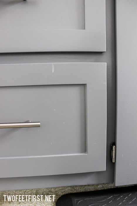 Painted Kitchen Cabinets -1 year later
