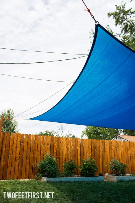 How to install a sun sail shade for a yard