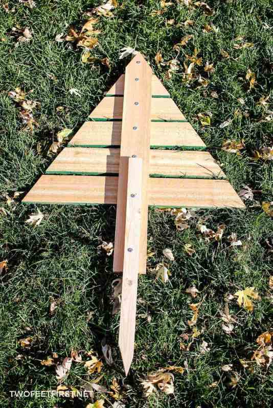 stake for wooden Christmas tree