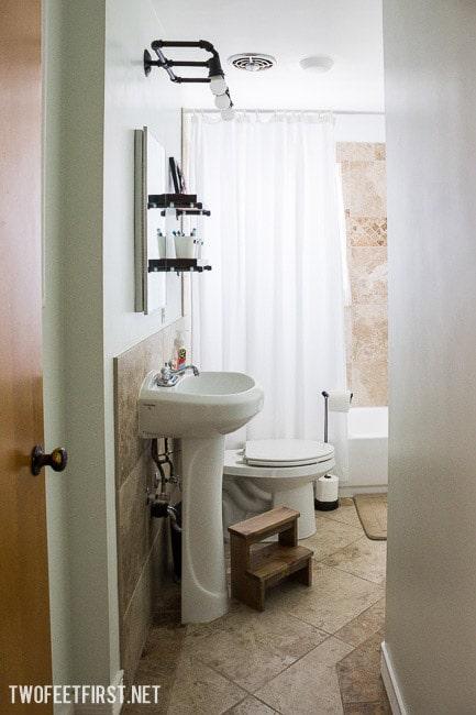 Updated bathroom makeover