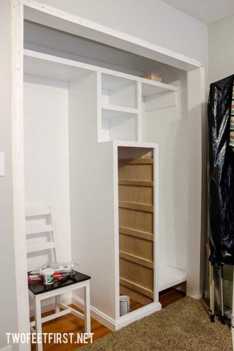 How to build a closet system for a small closet. Help organize your closet