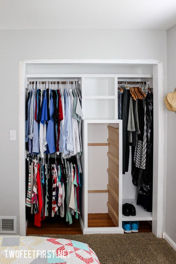 How to build a closet system for a small closet. Help organize your closet