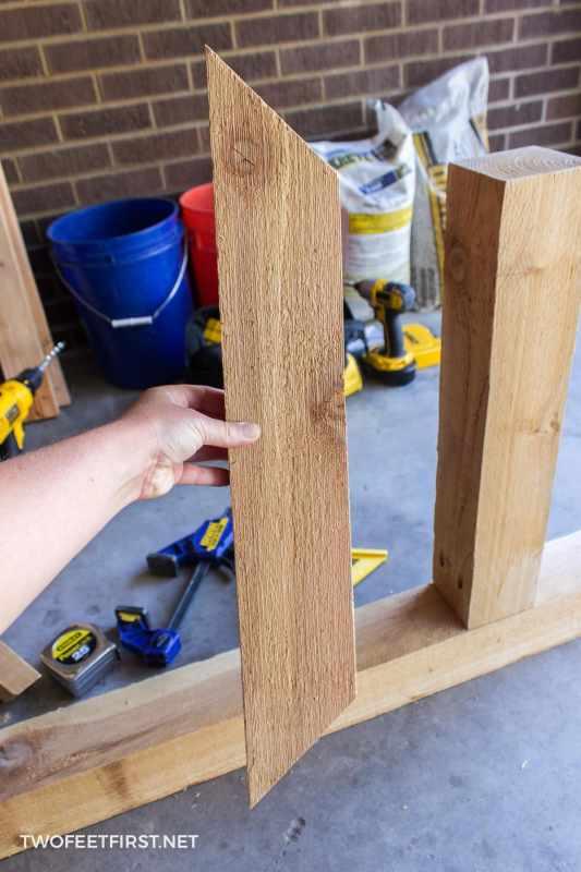 build cedar mailbox post