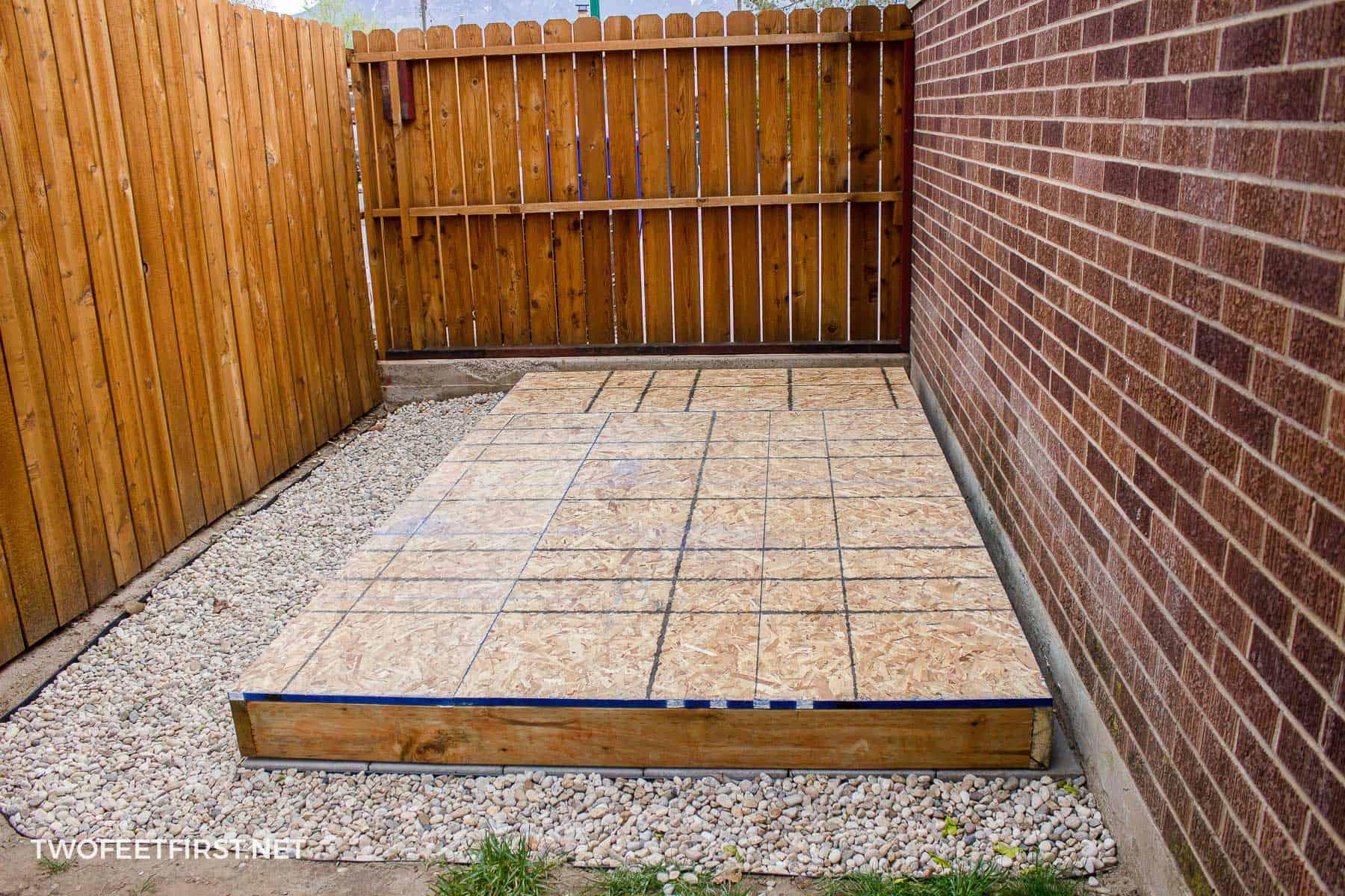 Build Shed Walls Plus Floor