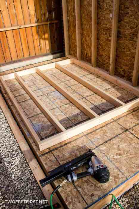 framing for shed walls