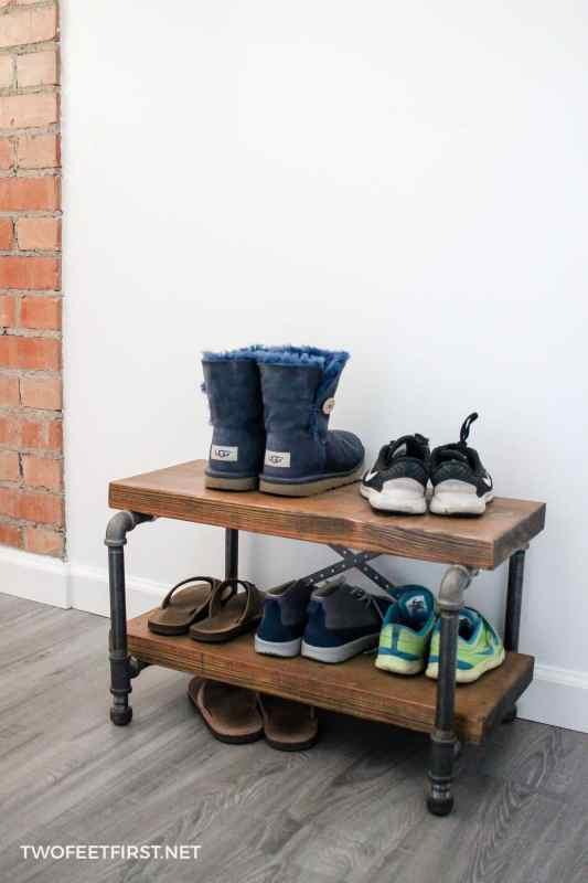 Build industrial shoe rack