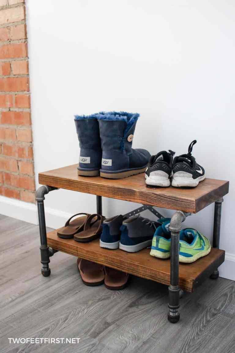 industrial shoe rack by Two Feet First