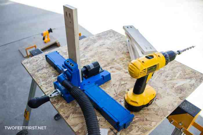 use Kreg Jig for cabinets