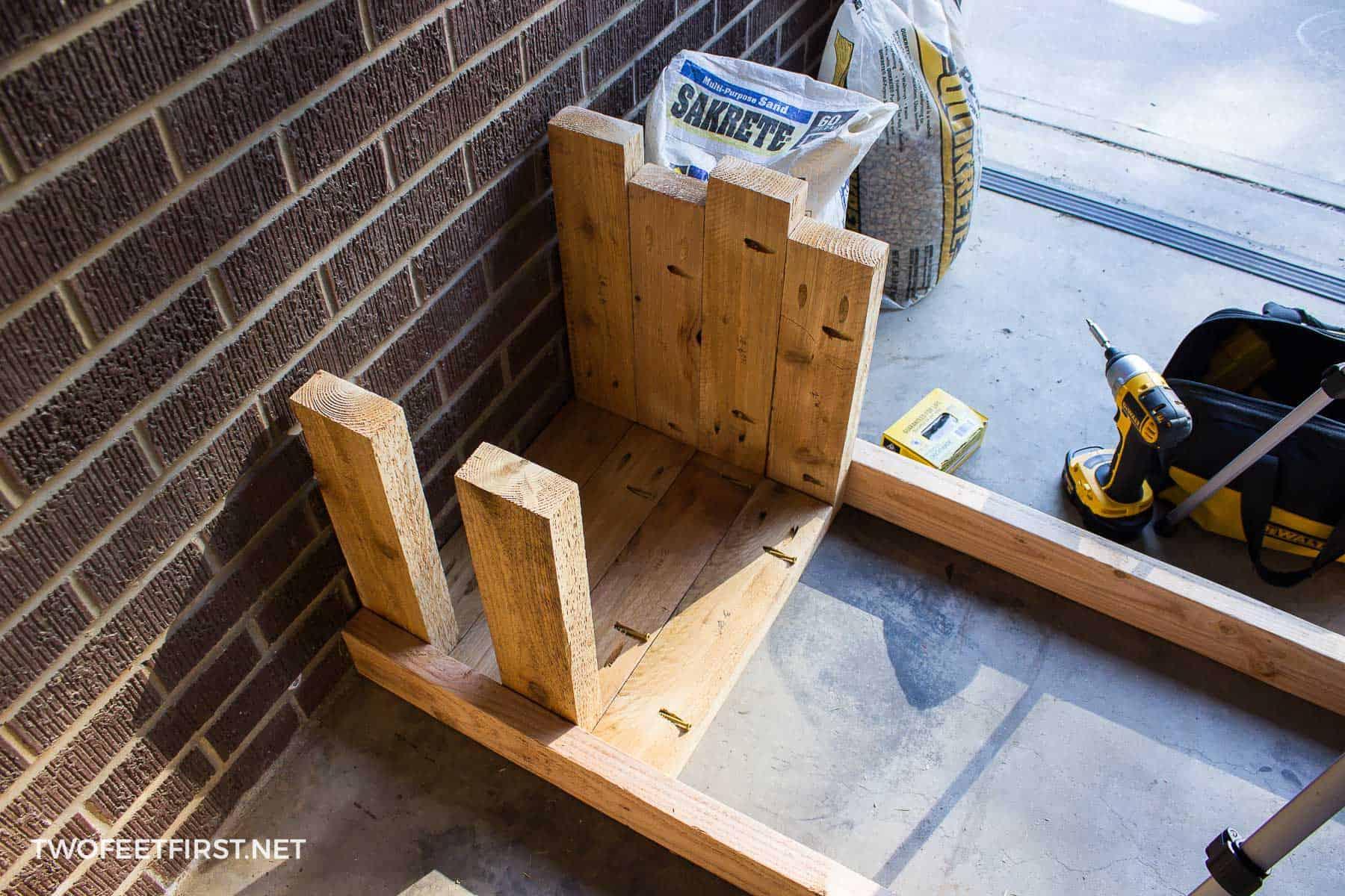 assemble sides of planter box