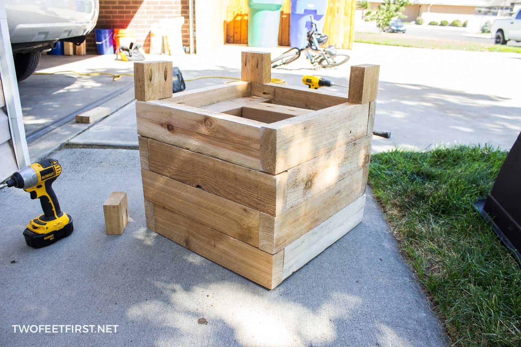 adding planter box legs