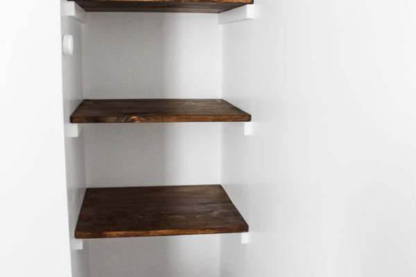 build wall to wall shelves