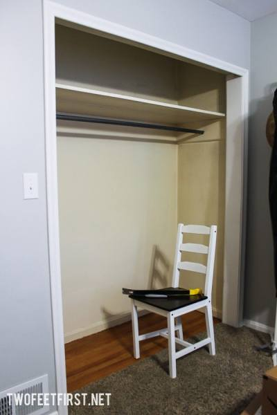 Redo a small closet to create more storage