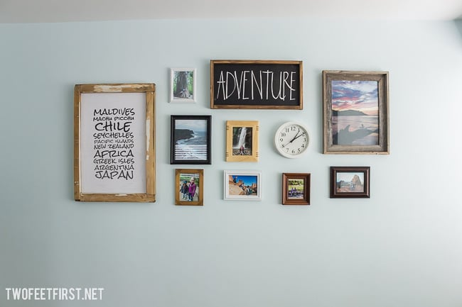Steps to create a gallery wall