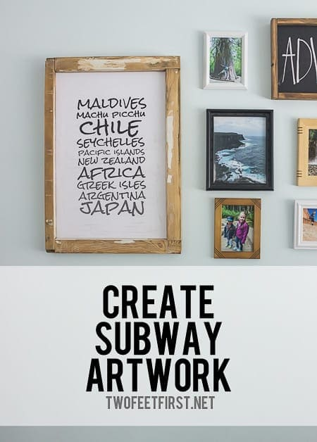 Create your own subway artwork