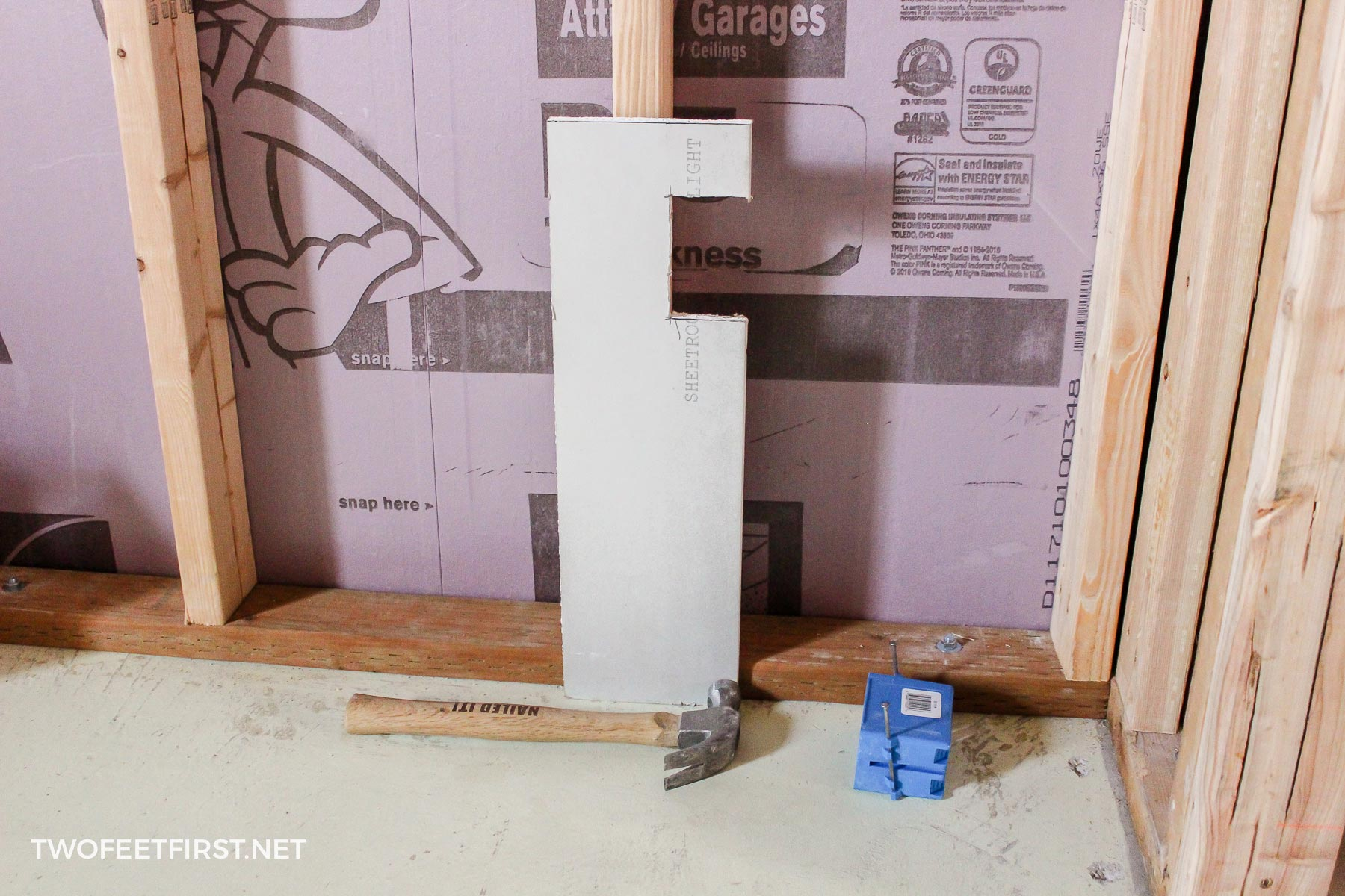 outlet box template for basement