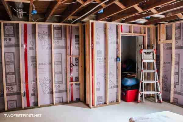 foamular insulation and framing in basement