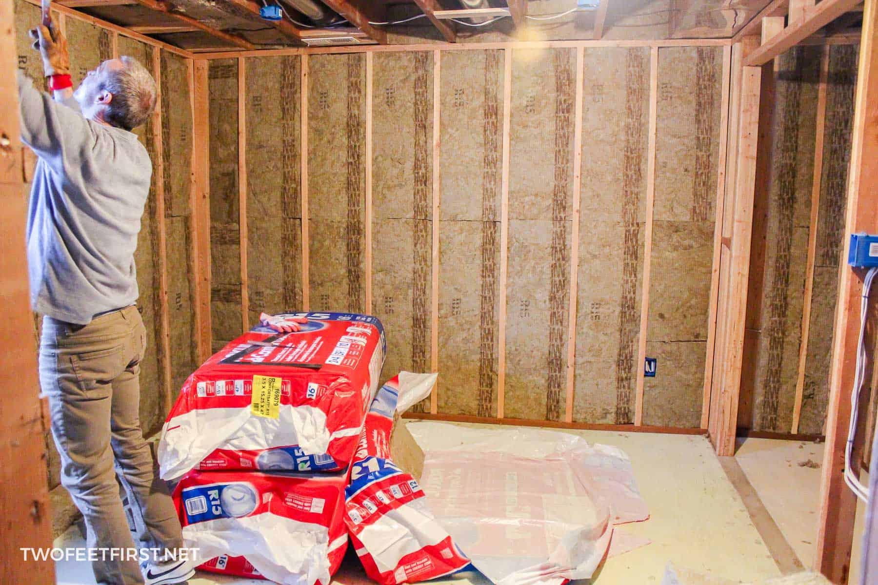 installing rockwool insulation in basement