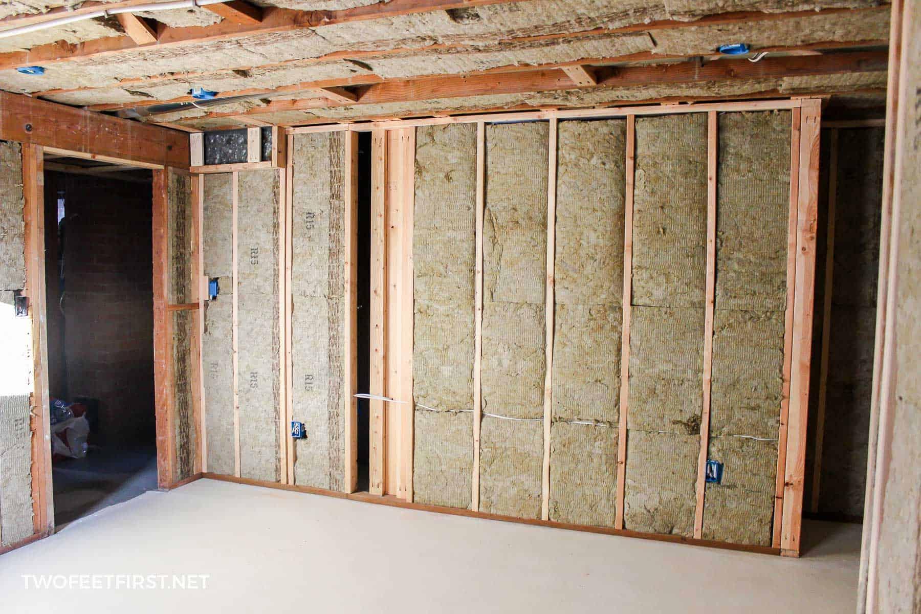 framing and insulating basement